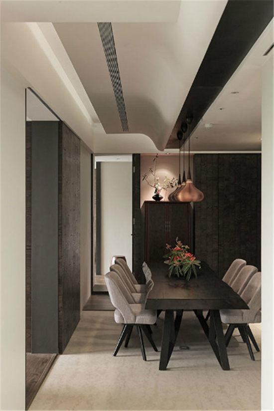 中西合璧极素空间 165平米大户型现代居