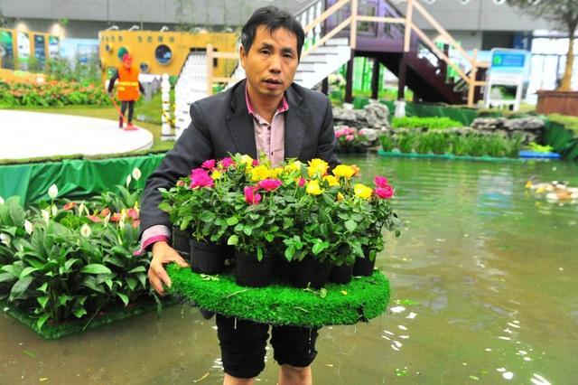 """望城农民巧手造出""""水上花园""""行销国内外"""