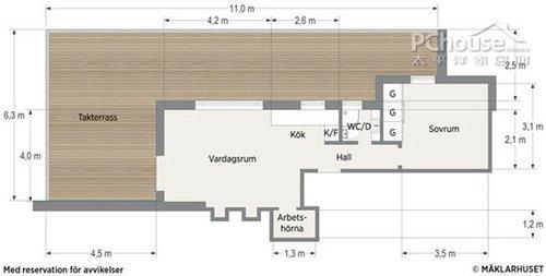 超赞47平单身公寓 巧妙收纳显大空间(图)图片