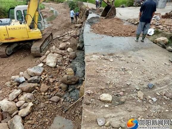 邵阳绥宁双鸣村水毁道路恢复工程顺利进行中
