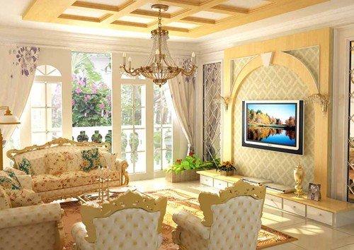 客厅精装修效果图 18图教你打造奢华的欧式客厅图片