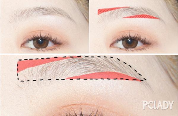 修眉梳怎么用图解
