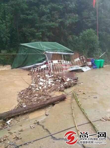 常德鼎城黄土店遭强降雨袭击 14村受灾8000人转移