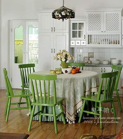 田园风格小户型设计图:餐厅-绿色打造清凉居室 田园风格小户型设计