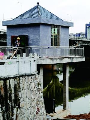 衡阳蒸水北堤节制闸已经完工 6月投入使用