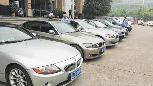 长沙一天查获8辆假牌套牌豪车 违法车辆全部被扣