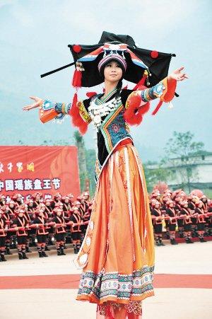 少女最大图片世界落户江永瑶族盘王跳舞庆贺元雕像女生百合二次图片