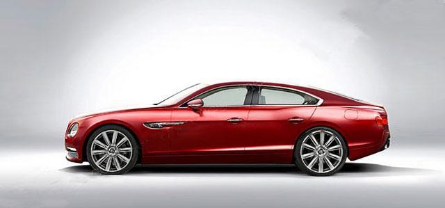 宾利这款全新轿车定位为入门级车型,外观将拥有四门轿跑车的造型风