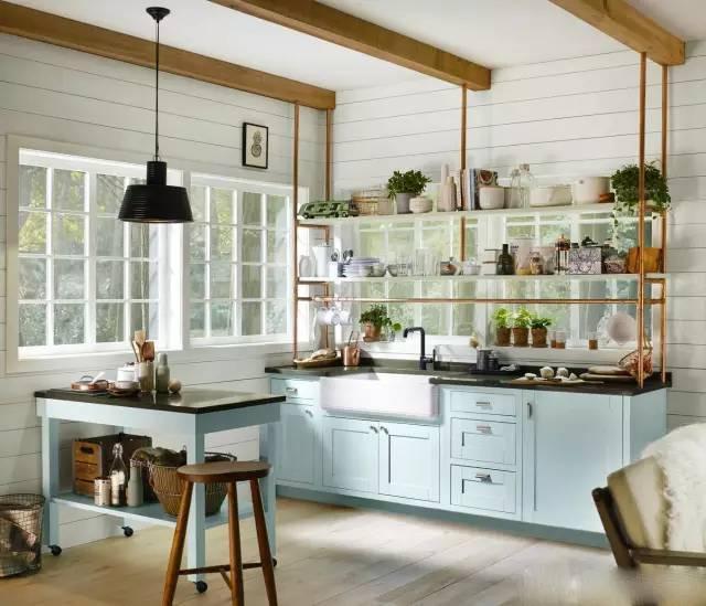 有这么漂亮的厨房 天天下厨也乐意!