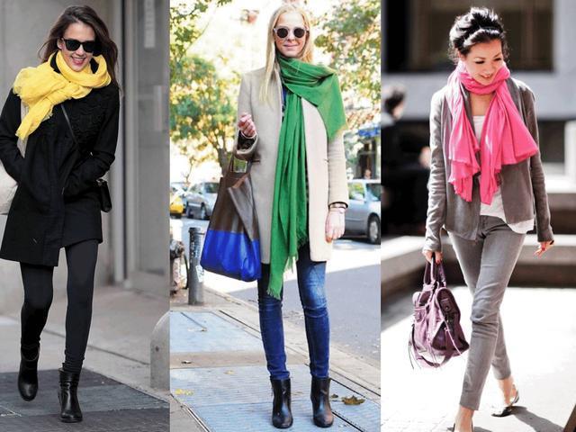 大衣服装效果贴画-这些围巾怎么搭衣服都好看