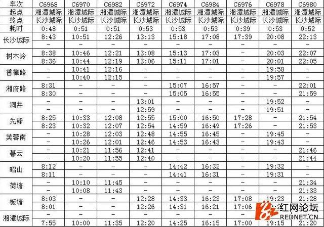网传长株潭城铁票价已经公布 铁路部门回应