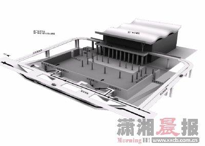 武广长沙南站西广场地下停车场提供500个停车位