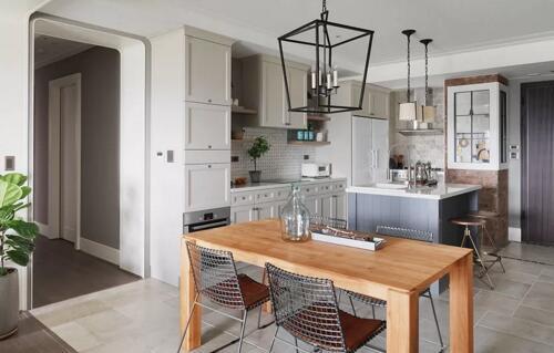 120㎡三室两厅美式装修 开放式厨房超美