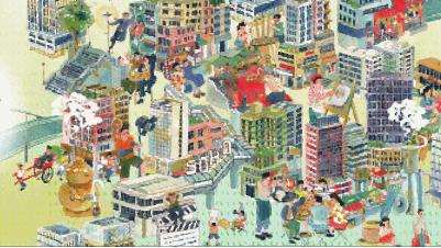 与手绘地图互动 一小时趣游香港旧城中环