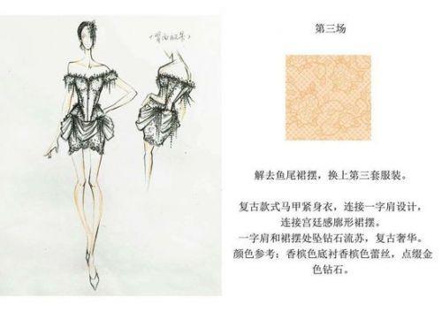 复古款式马甲紧身衣,连接一字肩设计,连接宫廷感廓形裙摆.图片
