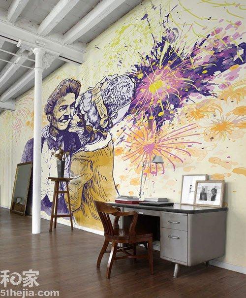 以假乱真手绘墙 你的想象力style
