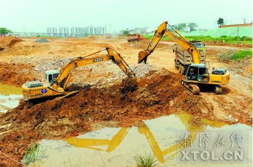 湘潭二桥北交通优化及环境整治项目紧锣密鼓推进