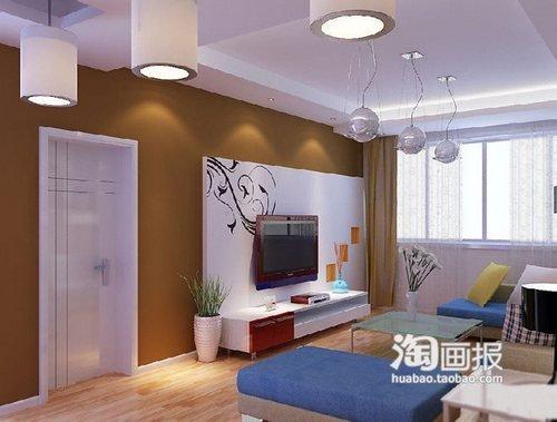 电视背景墙装修效果图2013图片 创意客厅装修