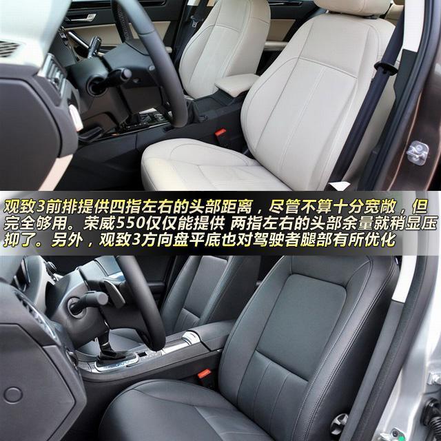 观致3对比上汽荣威550 自主品牌科技控高清图片