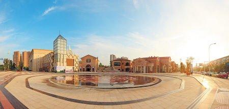 婚庆公园广场入口.
