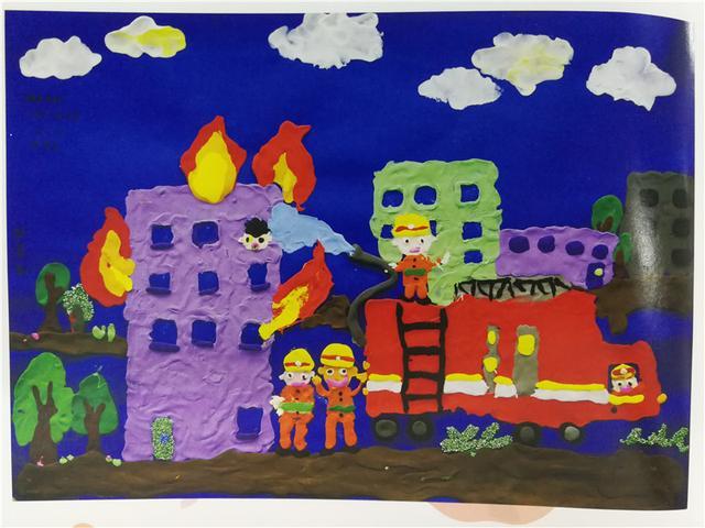 我是小小消防员 首届全国儿童消防绘画大赛优秀作品_大湘网_腾讯网图片