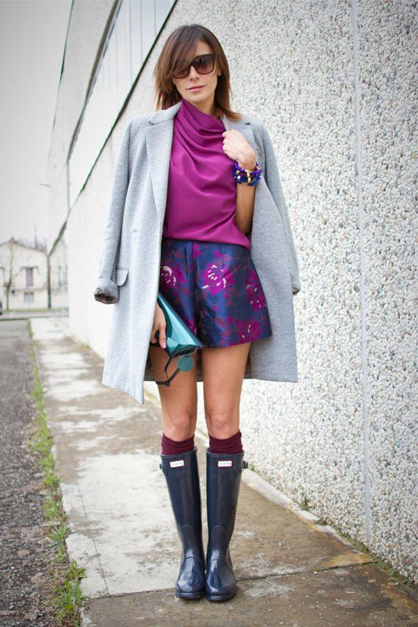 这样搭雨靴 让你爱上下雨天!