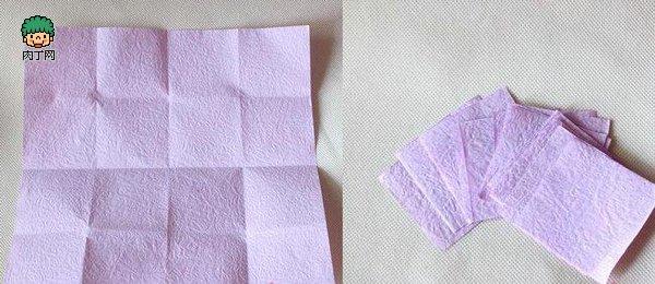 diy皱纹纸折玫瑰花 逼真假花制作步骤图解