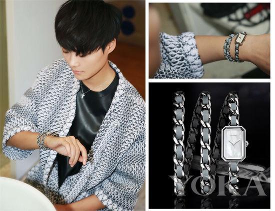 春春开始准备Chanel的大秀啦,这款链式手表,有没有很眼熟,暮光女也戴过啦~