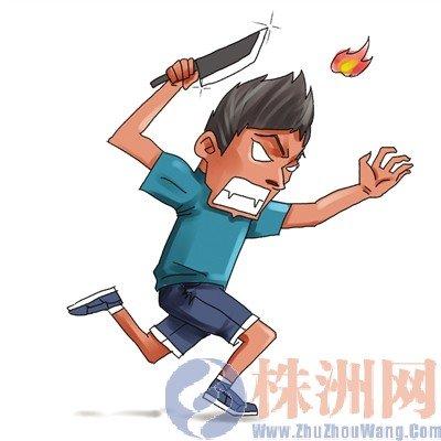 株洲男孩产生幻觉因v男孩后手绘被追杀朋友漫画图片孩男子砍伤图片