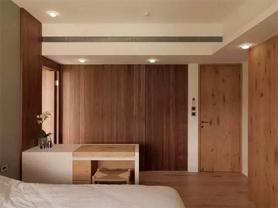 100平简约四室 木头芬芳的气味太浓郁