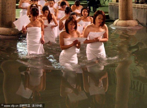 日本的裸体节  裸男裸女入冰水 ——转载图片 - 金色夕阳 - 金色夕阳