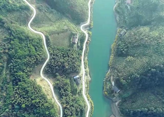 安化柘溪林场航拍 俯瞰原生态美景