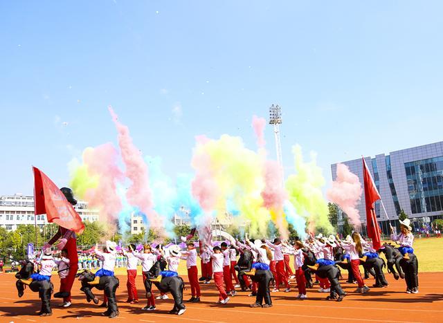 此次参加运动会的14支队伍分别来自12个地州,每支队伍都在入场仪式上图片