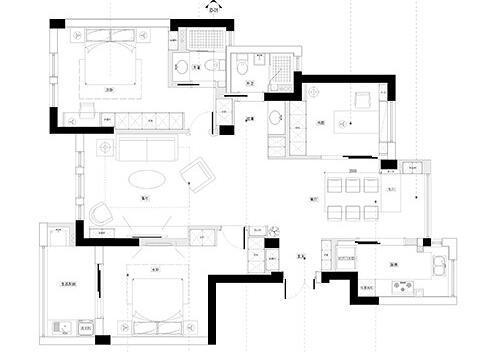 阳台变吧台 135平台式简约三居餐厅改动有创意