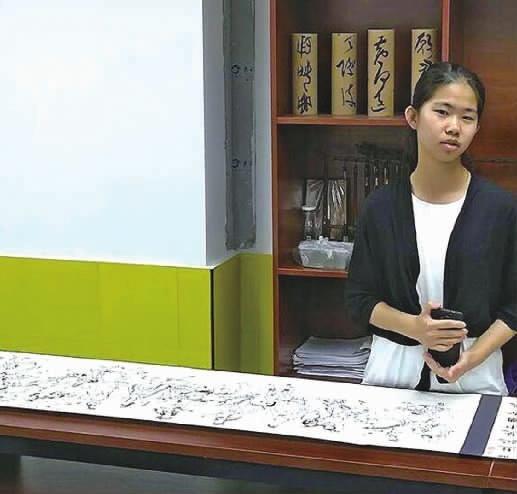 厉害了!株洲13岁女孩绘10米《西游记》人物长卷