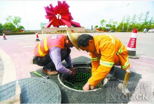 6月底前湘潭城区井盖井座将整修完 统一补装防坠网
