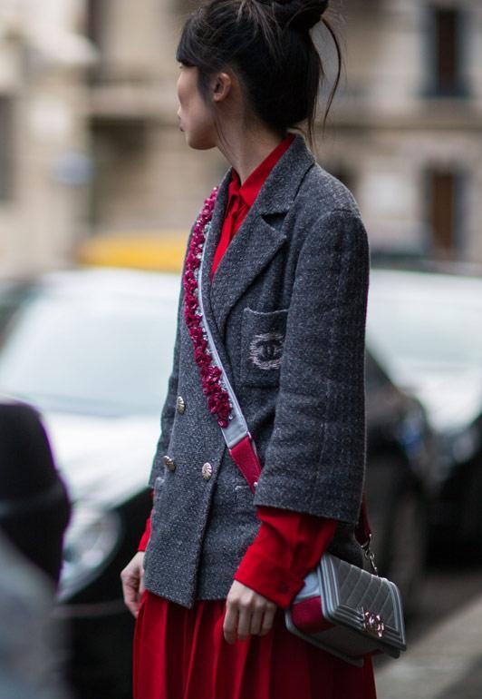 米兰时装周 街拍潮搭大比拼