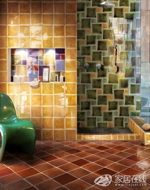 12款厨卫瓷砖铺装创意 小瓷砖正当道