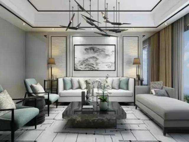 中式客厅沙发墙好美 这样设计更是出神入化