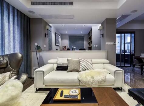120平现代简约新房 为书房设计疯狂打CALL