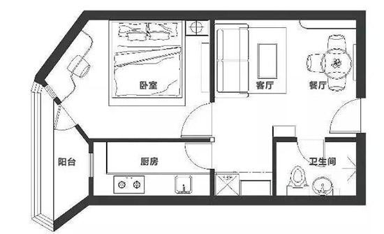 40平一居室 传说中的古董房大变身