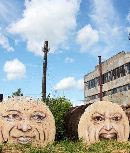 涂鸦彩绘废弃建筑物