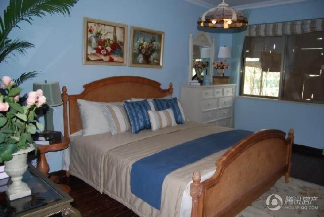 蓝色基调卧室 海洋风格