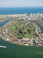航拍美国富人区壮观豪宅群
