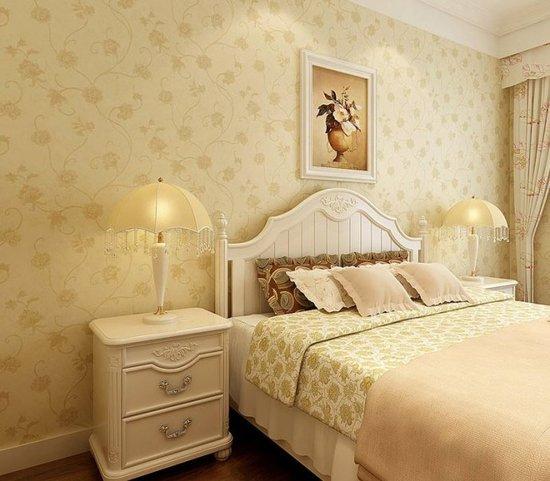 卧室壁纸效果图:欧式典雅图片
