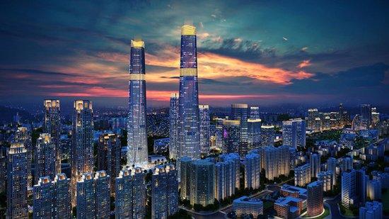 海口双子塔荣获2017-2018中国百城建筑新地标