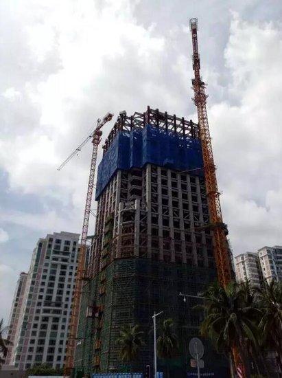 置地东方广场工程进度日新月异 钢架结构即将达到27层