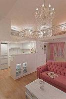 新婚小夫妻粉色浪漫的复式婚房