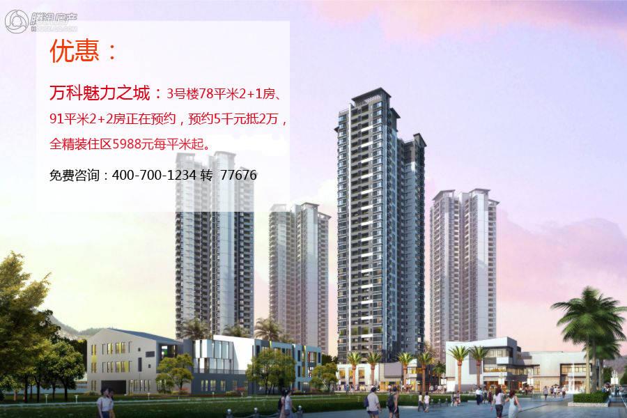 高层,由8栋十字型,11栋一字型高层住宅围合而成.万科魅力之高清图片
