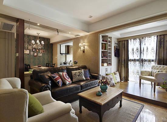 自然爽快的美式风格45平住宅